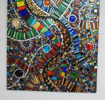 Mosaic for front door by Manicmosaics