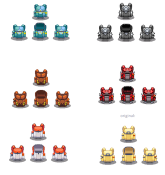 pokemon firered bag styles by chasz-manequin