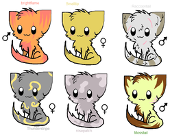 warrior cats adoptables by ari4berries