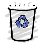 Recyclebin  Full icon by Obinoobie
