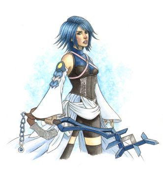 Aqua KH:BBS by darktenshilight
