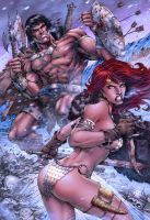 Conan and Sonja Color by MARCIOABREU7