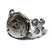 Steampunk Silver Bracelet by CatherinetteRings