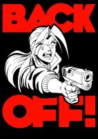 BACK OFF Tshirt design by dirktiede