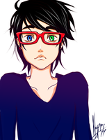 Aaron have glasses by nay-only