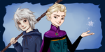 Jack Frost and Elsa Genderbend by sibandit