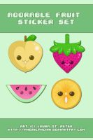 Fruit Stickers by querulousArtisan