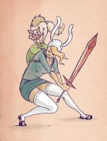 Fionna and Cake by Ghotire