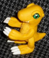 Clay Digimon: Agumon by HeyLookASign