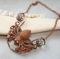 Gothic Spider Necklace Victorian Style by byrdldy