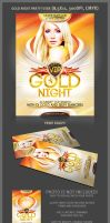 Gold Night Part Flyer Template by hugoo13