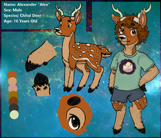 Alexander the Chital Deer Reference +Fursona+ by Pixl-Sw0rd