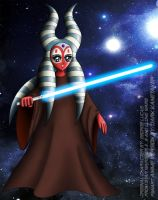 SHAAK-TI in Anime Style by DARTH-KANETAKER