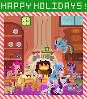 Happy Holidays from Retro Pony Pixels! by Zztfox