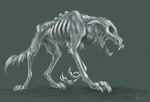 zombie wolf by flowerewolf