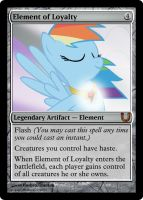 MLP_FiM_MTG-Element of Loyalty by pegasusBrohoof