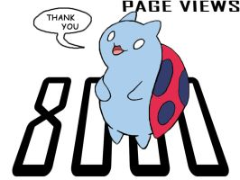 Catbug Page Views by CrossedRunner