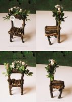 Fairy Chair with white Flower and Pearls by RevelloDrive1630