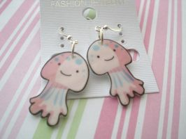 Jelly Fish Fun Earrings by AgnesGarbowska