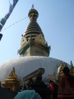 Swayambhunath Stupa by Woolfred