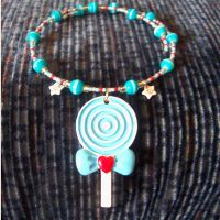 HUGE Blue Lollipop Necklace by SugarAndSpiceDIY