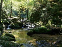 Lothlorien Valley and Rivers22 by Dragoroth-stock