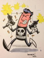 PUNISHER sketchcard 1 by thecheckeredman