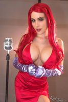 Katie Banks cosplay as Jessica Rabbit 3 by CaptPatriot2020