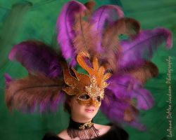 Mardi Gras Mask Purple by CostumeSalon