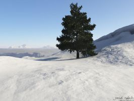 Snowy Mountains by HarelForge