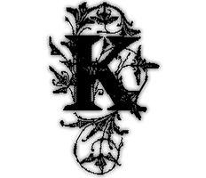 The Big Black Letter K by ZhoolFigure