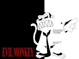 Evil Monkey Scarface by LenOdonnel