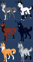 Wolf Adoption Sheet 1 *OPEN* by NewMoon-Dragoness