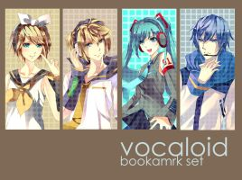 Vocaloid bookmark set by aiki-ame