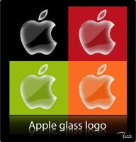Apple glass logos by RIKECH