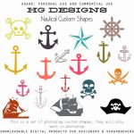 Nautical Photoshop Custom Shapes by HGGraphicDesigns