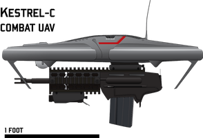 Kestrel Combat Quadrotor UAV by Afterskies