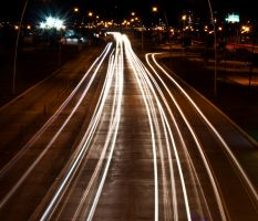 Street Car Lights Long Exposure by JoseAvilaPhotography