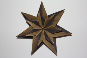 Christmas Stars Colour Shifter Duo Star I by Kusu-dama