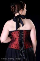 2009 Red tightlacing corset by Cuddlyparrot