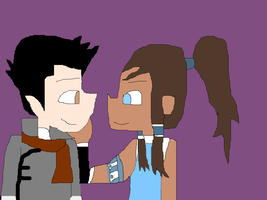 Mako and Korra by SonicX16