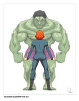 Avengers: Hulk and Widow by nirman