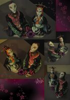 Midna and Zant Sculptures by StellaB