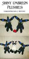 Shiny Umbreon Plush by xxtemporaryinsanity