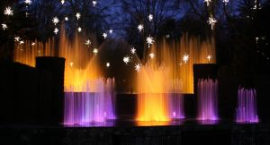 Water fountain and Light show at Longwood Gardens by smirkyface