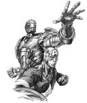 Iron man and Capt. America by ge12ald