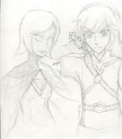 Quick Link and Fi sketch by Prototype-ZeroX