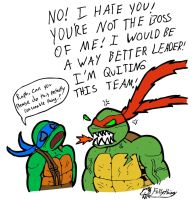 Leo and Raph in a Nutshell by frillythingy