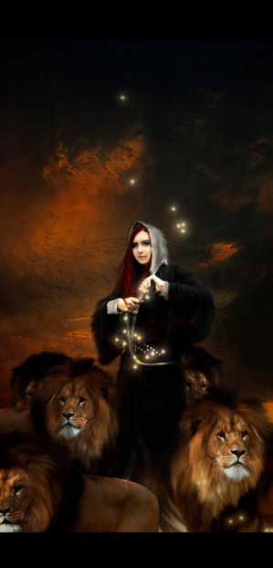 Circe and her lions