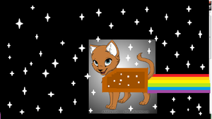 chocolate nyan cat by xion9299